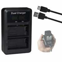 Battery LCD DUAL Charger for Canon LP-E10 LC-E10 LC-E10N  EOS Rebel T3 Camera