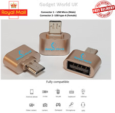 2x USB-C OTG Micro USB Male to USB 2.0 Type Female Adapter Connector For Android