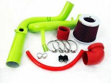 00 01 02 03 Ford Focus 2.0L L4 Green Cold Air Intake System - Red Filter
