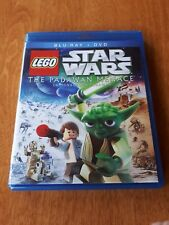 Star Wars Lego The Padawan Menace Blu Ray Movie USED Disney Yoda NICE