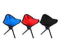 Travel Slacker Chair Folding Tripod Camping Stool Seat Hiking Portable Outdoor