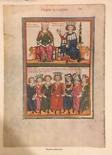 Klingsor V. Ungarland  Motiv aus Heidelberger Liederhandschrift (Codex Manesse)
