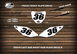 Factory Backing Custom Number plate backgrounds your number & name  MX Graphics