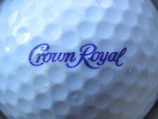 (1) CROWN ROYAL WHISKY WHISKEY ALCOHOL LOGO GOLF BALL