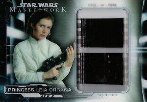 Star Wars Masterwork 2019, Princess Leia Film Cell Relic Card FC-PL5 1/1