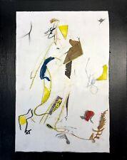 PARDON... - Woman Figure Drawing Collage Painting - Steven Tannenbaum Original