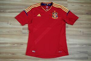 SPAIN NATIONAL TEAM HOME FOOTBALL SHIRT 2012-2013 JERSEY SIZE MENS MEDIUM RED