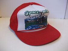 Space Needle Seattle Washington Hat Vintage Red Snapback Rope Trucker Cap
