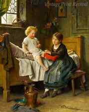 The Little Brother by Felix Schlesinger - Big Sister Young Boy 8x10 Print 1247
