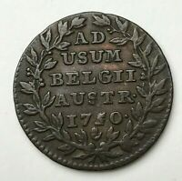Dated : 1850 - Austria - 2 Liards Coin - Austrian Netherlands - Maria Theresa