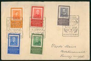 Mayfairstamps Hungary 1935 Vilagbajnoksag Combo Cover wwo90413