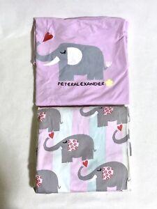 Peter Alexander Women's Elephant Pyjamas PJ Set T-Shirt Top & 3/4 Pants size S