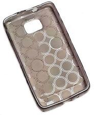 Silikon TPU Handy Cover Case Hülle Schale Kappe für Samsung  S5260 in Smoke