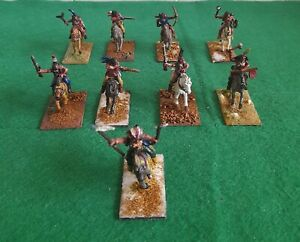 Wargames Foundry 28mm North American Plains Indians Mounted × 9 Metal Painted