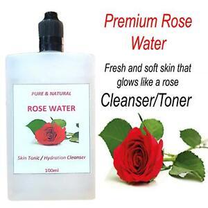 Pure & Natural Premium Rose Water Toner Cleanser Facial Skin Care 100ml