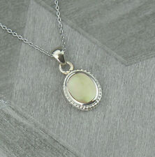 Sterling Silver April Aries Birthstone Pendant Necklace in Topaz Colour