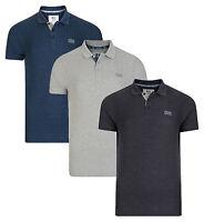 Crosshatch Casual Cotton Polo Shirt T-shirt Retro Top New Grey Navy Blue Pelekus