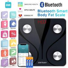 ZOETOUCH Bluetooth Body Fat Scale Smart Digital Bathroom BMI Scales Body Weight