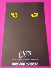 CATS Now & Forever - Andrew Lloyd Webber Musical Vintage Original Theatre Poster