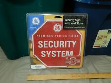 """General Electric (GE) """"Premises Protected by Security System"""" Yard Stake Sign +"""