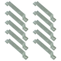 "Pack of 10 Galvanised Steel Woodside Fence Panel 4"" x 4"" Post Security Brackets"