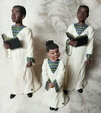 3 pc Sarah'S Attic Black Figurine Voices of Praise 2 Reggie 1 Brandi Christmas