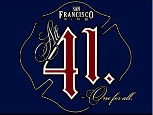 San Francisco Fire 41 3D SIGN ART Badge emblem Fire Department patch New York