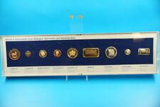 Orig. Bank Schaukasten mit Nachbildungen von Münzen + Barren (F321