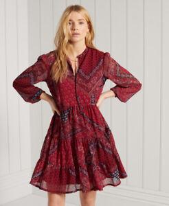 Superdry Womens Tie Shirt Dress