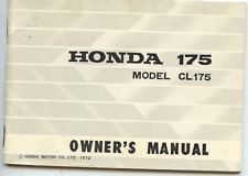 Genuine Original 1969 Honda CL175 K3 (Scrambler) Owners Manual