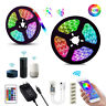 5M 10M LED Strip Light RGB tape lamp Waterproof Alexa Google Smart WIFI Full Kit