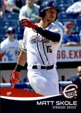 2017 Syracuse Chiefs Choice #24 Matt Skole Woodstock Georgia GA NM Baseball Card