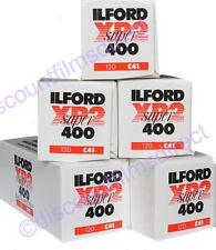 5 x ILFORD XP2 400 120 ROLL C.41 PROCESS CHEAP B&W CAMERA FILM by 1st CLASS POST