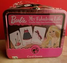 New Barbie My Fabulous Life Create Your Story Card Game - Metal Tin Collectible