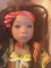 Himstedt 2000 Amber 6 year old Jamaican Club Ltd Doll w/ Coa Box & Shipper