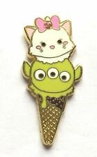 Disney Pin Badge HKDL - Tsum Tsum Ice Cream Cone Marie & Toy Story Alien