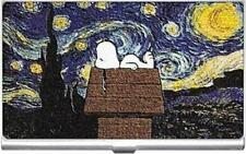 SNOOPY STARRY NIGHT VAN GOGH BUSINESS CARD CASE, HOLDER