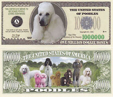 Two Poodle K-9 Dog Collectible Novelty Money Bills #282