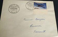 France P A N° 31 200 F Bleu Obli Premier Jour