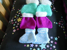 """Knitting pattern Baby """"Pixie"""" booties Very easy to knit"""