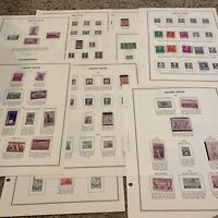 MINT US STAMP LOT ON HARRIS ALBUM PAGES, GREAT GIFT IDEA FOR GRANDPA OR DAD