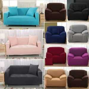 Elastic STRETCH QUILTED SOFA COVERS Slipcover Protector Settee 1/2/3/4 Seater UK