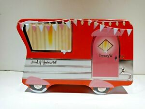 Benefit Cosmetics Empty Collectible Tin Orange Camper Honk If You're Hot, Empty