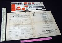 1940s Modelcraft Micromodels AEC Mammoth Major Plan + Matching J6 Cut-Out Card