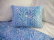 NEW Custom Ralph Lauren Jamaica Blue Chevron Herringbone Accent Pillow 1 Button
