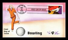US COVER BOWLING RECREATIONAL SPORTS FDC PUGH ALL OVER HAND COLORED