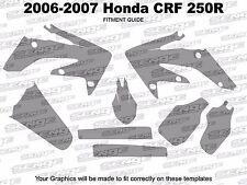 2006 2007 CRF 250R GRAPHICS KIT CRF250R 250 R DECO STICKER DECALS 4-STROKE