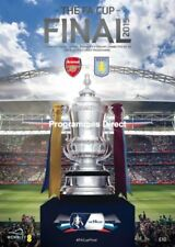 Away Teams A-B Aston Villa Final Football FA Cup Fixture Programmes
