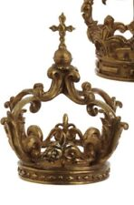 "NWT Raz Imports 10.5"" Gold Crown,  Easter Decor"