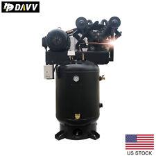 Industrial 10hp 60v Reciprocating Air Compressor 2 Stage Air Pump Asme 60 Gallon
